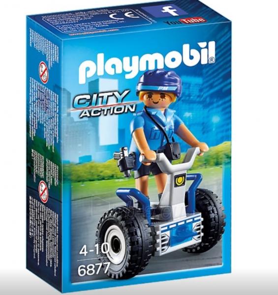 Konstruktorius Playmobil 6877 Polizistin mit Balance-Racer Paveikslėlis 1 iš 2 310820182952