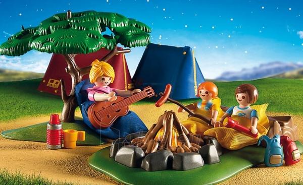 Konstruktorius Playmobil 6888 Tent Camping with LED Fire Paveikslėlis 3 iš 5 310820182955