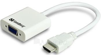 Konverteris Sandberg HDMI/VGA Paveikslėlis 1 iš 2 250255081496