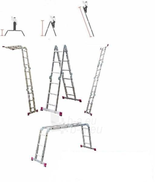 Kopėčios Krause sulankstomos aliuminės 4 x 4 (4.70 m) Paveikslėlis 1 iš 1 300469000114