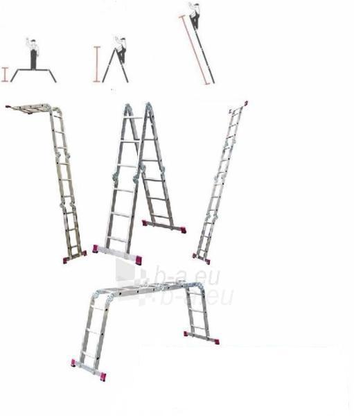 Kopėčios Krause sulankstomos aliuminės 4 x 5 (5.80 m) Paveikslėlis 1 iš 1 300469000115
