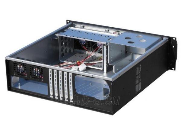 Korpusas Gembird 19 Rack-mount chassis (3U), black Paveikslėlis 3 iš 4 310820015660