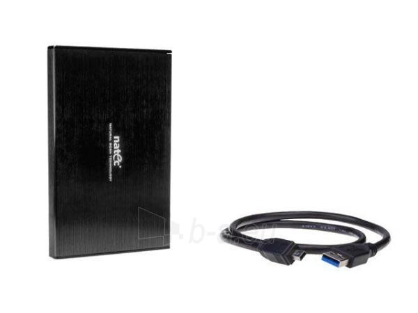 HDD enclosure Natec RHINO LTD for 2.5 SATA - USB 3.0, Aluminum, Black, Slim Paveikslėlis 5 iš 6 250255600320