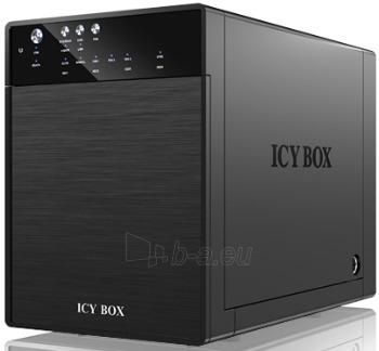 Korpusas Icy Box External 4x3,5 HDD case SATA to USB 3.0, eSATA, JBOD, Black Paveikslėlis 1 iš 3 310820015648