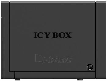 Korpusas Icy Box External 4x3,5 HDD case SATA to USB 3.0, eSATA, JBOD, Black Paveikslėlis 3 iš 3 310820015648