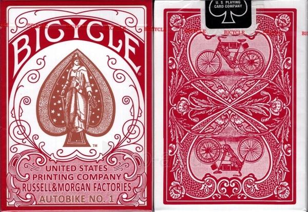 Kortos Bicycle AutoBike No. 1 (Raudonos) Paveikslėlis 2 iš 2 310820142785