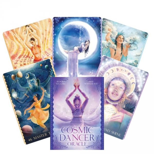 Kortos Cosmic Dancer Oracle Kortos Paveikslėlis 2 iš 6 310820223897
