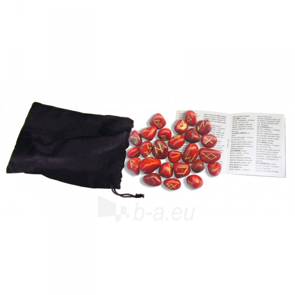Kortos Red Jasper Runos Paveikslėlis 3 iš 4 310820217333