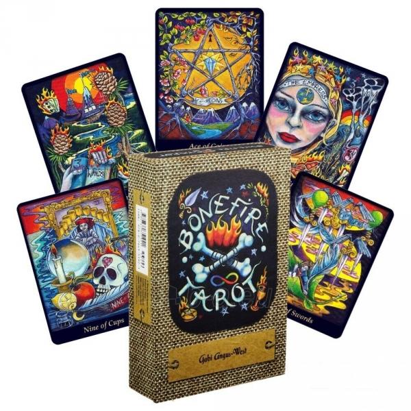 Kortos Taro Bonefire Tarot Paveikslėlis 9 iš 9 310820217213