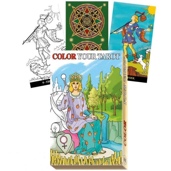 Kortos Taro Color Your Tarot Paveikslėlis 2 iš 8 310820160434