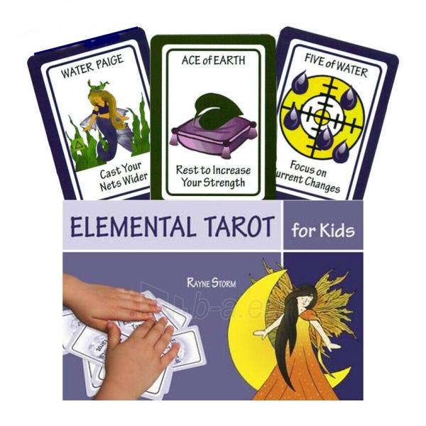 Kortos Taro Elemental Tarot for Kids Paveikslėlis 7 iš 7 310820217251