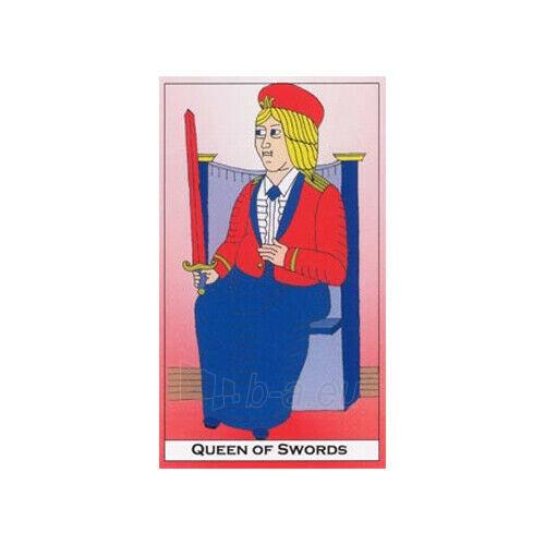 Kortos Taro Major Tom's Tarot of Marseilles Paveikslėlis 4 iš 11 310820217272