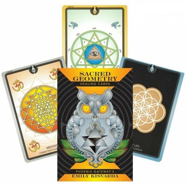 Kortos Taro Sacred Geometry Healing Cards Paveikslėlis 7 iš 7 310820217217