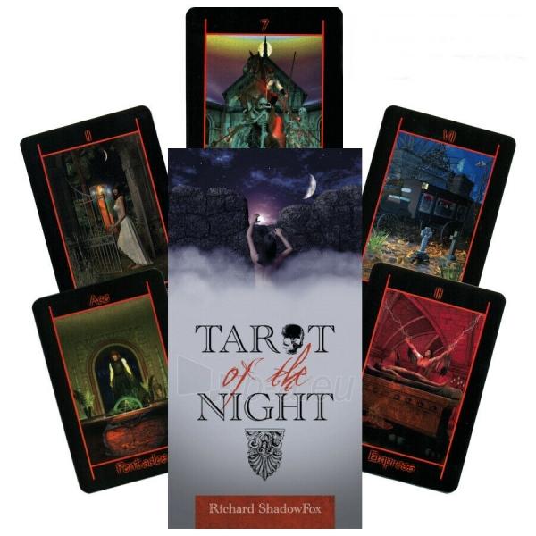 Kortos Taro Tarot of the Night Paveikslėlis 1 iš 8 310820217255