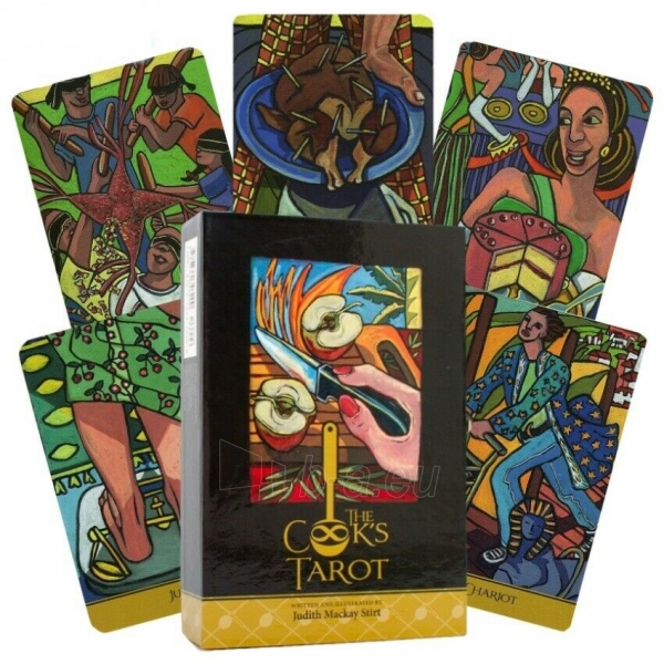 Kortos Taro The Cook's Tarot Paveikslėlis 1 iš 9 310820217240