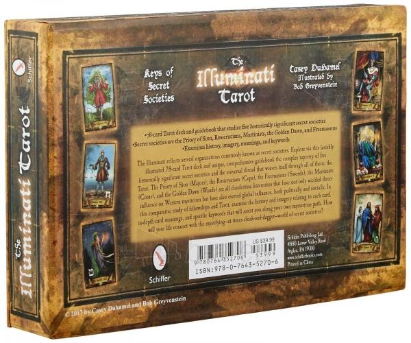 Kortos Taro The Illuminati Tarot Paveikslėlis 7 iš 10 310820217229
