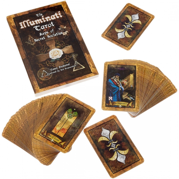Kortos Taro The Illuminati Tarot Paveikslėlis 4 iš 10 310820217229