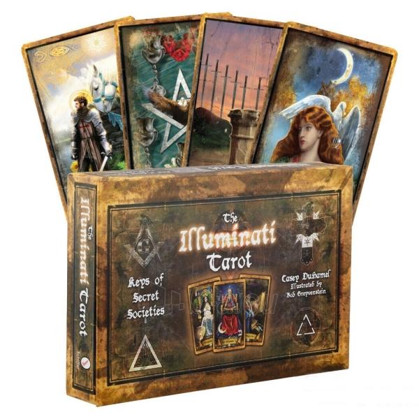 Kortos Taro The Illuminati Tarot Paveikslėlis 10 iš 10 310820217229