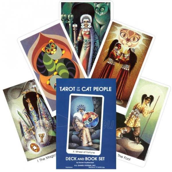Kortos Tarot of the Cat People taro ir knyga Paveikslėlis 1 iš 9 310820173473