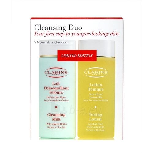 Kosmetikos rinkinys Clarins Cleansing Duo Dry Skin 200ml Paveikslėlis 1 iš 1 2508200000848