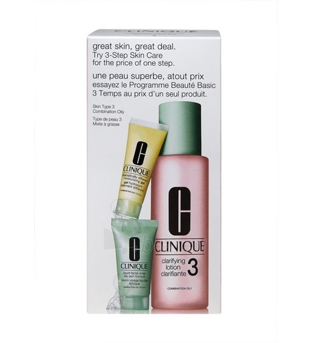 Kosmētikas Kit Clinique 3 Step Skin Care kombinētai taukainai ādai 245ml Paveikslėlis 1 iš 1 2508200000822