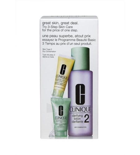 Cosmetic Kit Clinique 3 Step Skin Care Dry Combination Skin 245ml Paveikslėlis 1 iš 1 2508200000823