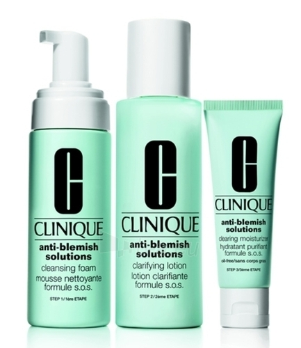 Cosmetic set Clinique Anti-blemish Solutions 3-Step System 180 ml (damaged packaging) Paveikslėlis 1 iš 1 2508200000684