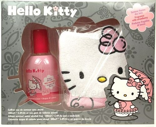Kosmetikos rinkinys Hello Kitty Eau De Senteur Wild Strawberry   100ml Paveikslėlis 1 iš 1 2508200000021