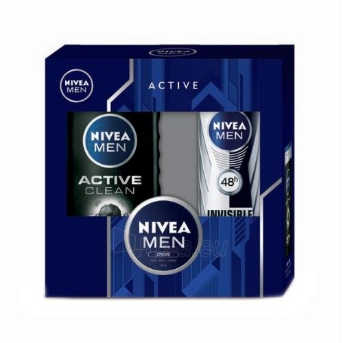 Kosmetikos rinkinys Nivea Men Active Clean Shower Gel Kit Cosmetic 430ml Paveikslėlis 1 iš 1 310820050042