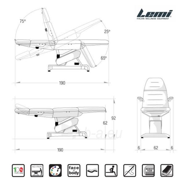 Kosmetologinis krėslas - kušetė Lemi 3 Paveikslėlis 3 iš 8 310820199711