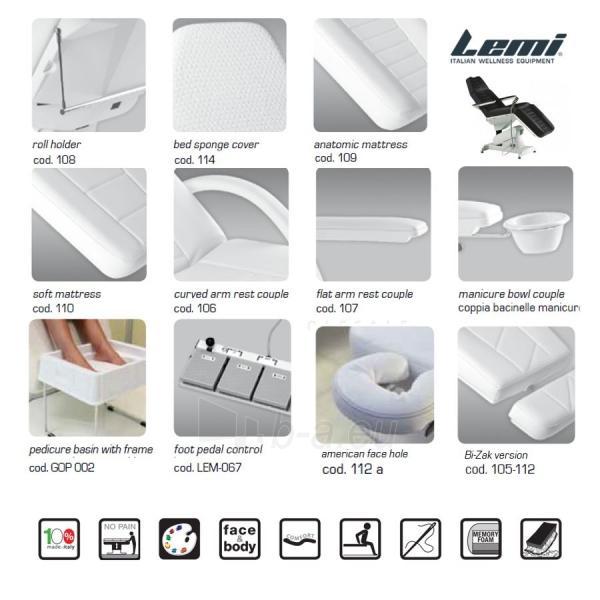 Kosmetologinis krėslas - kušetė Lemi 3 Paveikslėlis 7 iš 8 310820199711