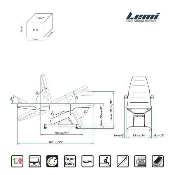 Kosmetologinis krėslas - kušetė Lemi 4 Paveikslėlis 4 iš 9 310820199713