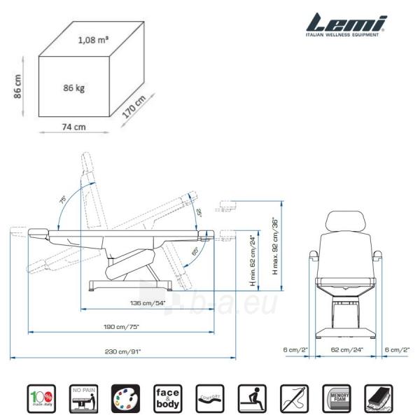 Kosmetologinis krėslas - kušetė Lemi Syncro Bi-Zak Paveikslėlis 8 iš 10 310820199714
