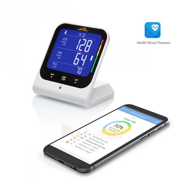 Kraujospūdžio matuoklis ETA Arm blood pressure monitor with bluetooth and adapter 4297 90000 Paveikslėlis 2 iš 5 310820229031