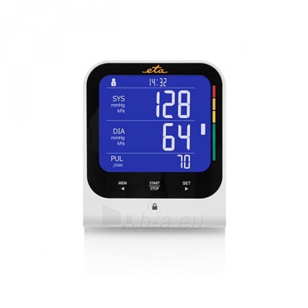 Kraujospūdžio matuoklis ETA Arm blood pressure monitor with bluetooth and adapter 4297 90000 Paveikslėlis 3 iš 5 310820229031