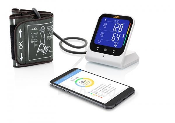 Kraujospūdžio matuoklis ETA Arm blood pressure monitor with bluetooth and adapter 4297 90000 Paveikslėlis 5 iš 5 310820229031