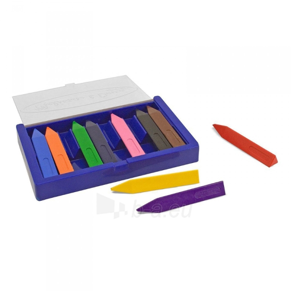 Kreidelės Jumbo Triangular Crayons 10pcs. Paveikslėlis 1 iš 1 310820118707