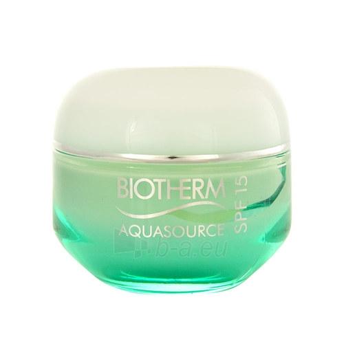 Kremas face Biotherm Aquasource Cream SPF15 Normal Skin Cosmetic 50ml Paveikslėlis 1 iš 1 310820003424