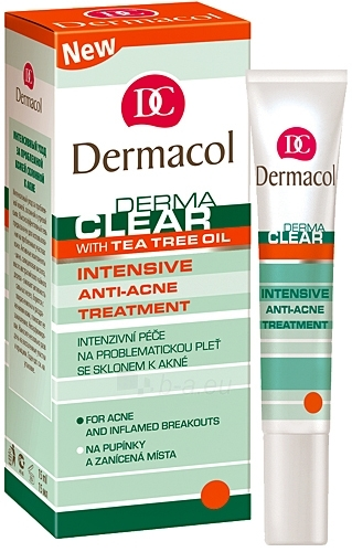 Dermacol DermaclearTreatmentment Intensive Anti-Acne Cosmetic 15ml Paveikslėlis 1 iš 1 250840400354