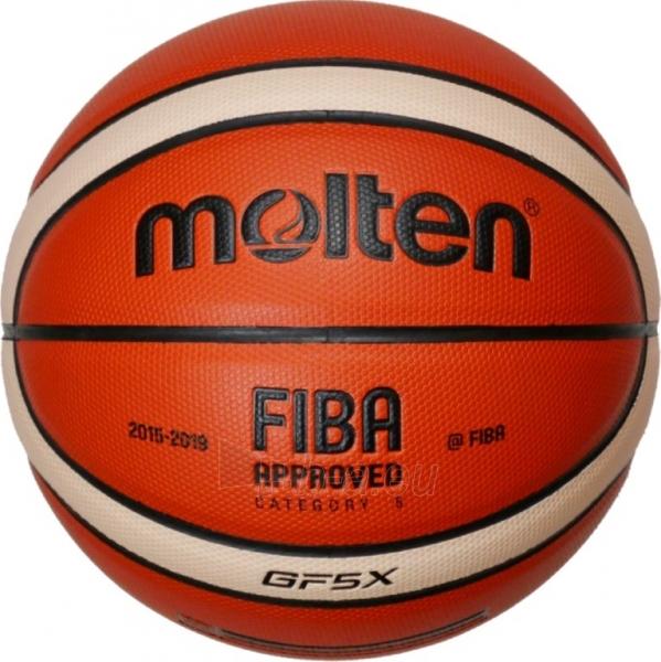 Krepšinio kamuolys Molten BGF5X-X FIBA Paveikslėlis 1 iš 1 310820022324