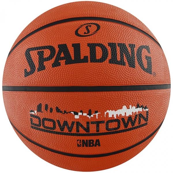Krepšinio kamuolys Spalding NBA downtown 2017 brick black 83204Z Paveikslėlis 1 iš 2 310820192037