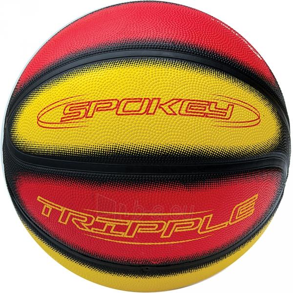 Krepšinio kamuolys Spokey TRIPPLE Red/yellow Paveikslėlis 1 iš 1 310820008288