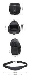 Krepšys/Dėklas Esperanza ET145 skirtas fotoaparatui ir priedams |Juodas Paveikslėlis 8 iš 10 2502220409001418