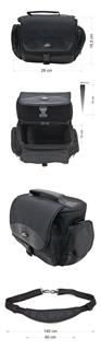 Krepšys/Dėklas Esperanza ET147 skirtas fotoaparatui ir priedams |Juodas Paveikslėlis 8 iš 9 2502220409001420