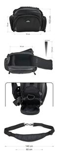 Krepšys/Dėklas Esperanza ET150 skirtas fotoaparatui ir priedams |Juodas Paveikslėlis 8 iš 9 2502220409001423