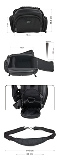 Krepšys/Dėklas Esperanza ET150 skirtas fotoaparatui ir priedams |Juodas Paveikslėlis 9 iš 9 2502220409001423