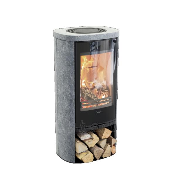 Krosnelė CONTURA 820TG Style juoda sp. su muilo akmens apdaila, tonuotas stiklas Paveikslėlis 1 iš 2 310820254581