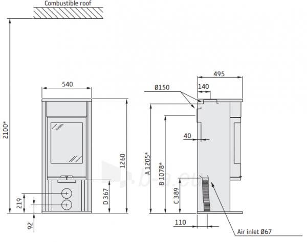 Krosnelė CONTURA C610:1 G Style, korpusas juodos spalvos, kompl. (798402, 398271, 398282) Paveikslėlis 2 iš 2 310820254617