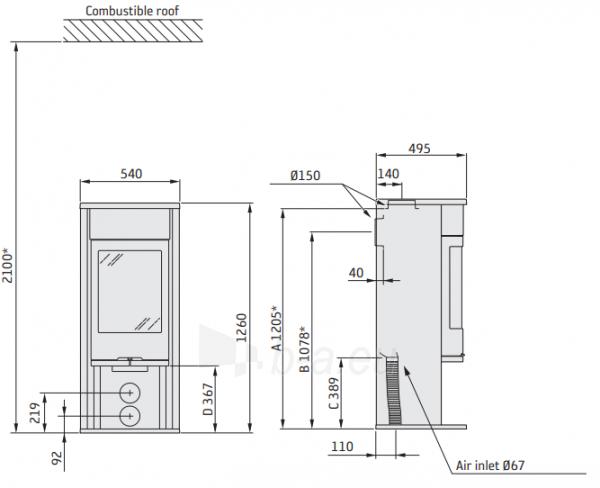 Krosnelė CONTURA C610:4 Style, korpusas pilkos spalvos, kompl. (798400, 398272, 398269) Paveikslėlis 2 iš 2 310820254611
