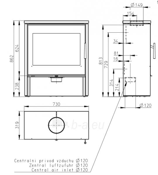 Oven Romotop Aledo 02, su muilo akmens apdaila Paveikslėlis 2 iš 2 310820165865
